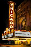Chicago Theater Photography Metal Print Wall Art Picture Home Decor Poster Landm