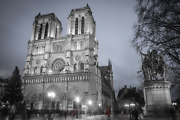 Notre-dame Cathedral Church Paris France Photography Canvas Print Wall Art
