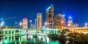 Tampa Downtown Skyline Florida Canvas Photography Print Wall Art Picture