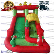13x6.6ft Inflatable Christmas Santa Claus Bounce House And Slide With Air Blower
