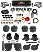 Complete 3/8 Fast Valve Air Ride Suspension Kit 8 Gal Tank For 58-64 Chevy Cars