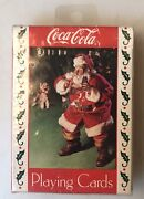 Coca Cola Playing Cards Santa Claus Drinking Coke Christmas New Vintage 1993