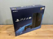 Sony Playstation 4 Pro 1tb Console - Black Ps4 Pro Cuh-7215b - Brand New Sealed