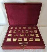 Official Sterling Silver Proof Set Of.the Empire Collection Stamps.london 1981