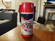 1962 Rare Universal Space Ship Rocket Thermos / Vacuum Bottle For Lunch Box