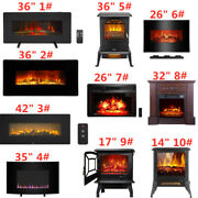 14-42 1400w Portable Electric Firebox Fireplace Space Heater Flame Stove Us