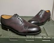 Genuine Military Mens Brown Leather John Land Officers Service Dress Shoes 9 Med