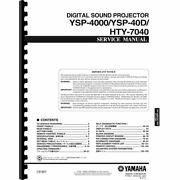 Yamaha Ysp-4000, Ysp-40d And Hty-7040 Sound Projector Service Manual Pages 165