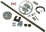 Complete Go Kart Rear Live Axle Kit Off-road Go Cart Parts With 40 54t Sprocket