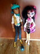 Monster High Dolls Draculaura And Clawd Wolf Forbitten Love