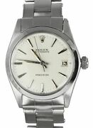 Vintage 1965 Rolex Oysterdate Precision 6466 Steel White Manual 31mm Mid Size
