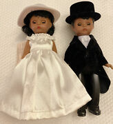 Vintage Madame Alexander Collection Doll Bride Groom 5 Inches Lot Of 2 Mcdonalds