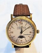 Louis Erard Triple Date Moon Phase Dial Automatic Wrist Watch Exhibition Back