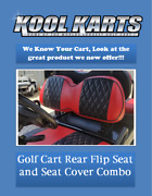 Custom Diamond Pleated Golf Cart Seat Coversdaredevil Red W/blck Stripes-ppng