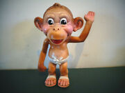 Vintage Rubber Baby Monkey Chimp With Diaper Squeak Toy Gerber