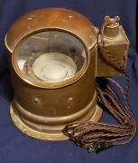 Lighted Lionel Corp Compass/binnacle 1942 Wwii 4 Navy Mark 1 Bu Ships 11980