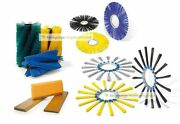 Broom Set Kersten Series 1000 - Poly 0 1/16in / Corrugated Wire Crimped 0 1/32in