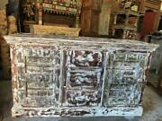 Rustic Sideboard Old Doors Farmhouse Cabinet Tv Console Wood Handmade Chest