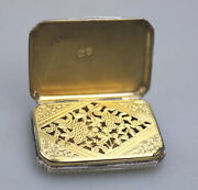 A Good And Large Antique George Iii Solid Silver Vinaigrette London C.1815
