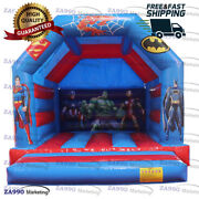 13x13ft Inflatable Superhero Bounce House With Air Blower