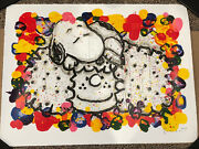 Tom Everhart Signed Lithograph Why I Like Big Hair Snoopy Peanuts Schulz Coa