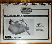 Woods M4-1 Billy Goat Rotary Mower Ownerand039s Operatorand039s And Parts Manual F-5735 8/78