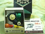 Collectible '60 Vintage Abumatic 30a Spin-casting Reel In Box-used/excellent++