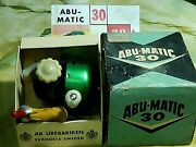 Collectible '58 Vintage Abumatic 30 Spin-casting Reel In Box-used/excellent+