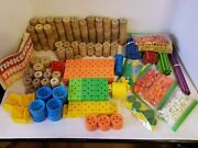 Vintage Tinkertoy Building Blocks - Wooden And Plastic - 750+ Pieces - 9+ Pounds