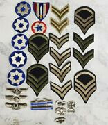 Wwii World War Ii Patches And Sterling Silver Pins Rank Insignia U.s. Army
