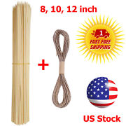 55 Bamboo Sticks Garden Plants Support Trellis Stakes Floral Picks Bbq Skewers