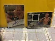 Georges St-pierre Auto Card Lot2 2015 And 2016 Topps Ufc Knockout Auto Cards