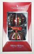 """Waterford Set 2 Ornaments 3"""" Ruby Ball Christmas Holiday poland"""