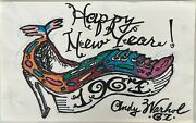 Warhol Original Painting Happy Birthday Shoe 1967 Signed One-of-a-kind