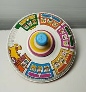 Rare Antique Bryan Ohio Art Co Spinning Tin Toy Top Made In Usa