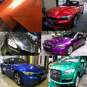 Candy Metallic Glossy Vinyl Whole Car Vehicle Wrap Covering Foil Graphics Decals