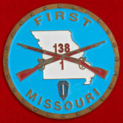 Challenge Coin Us 138th Light Infantry Regiment Missouri Mo National Guard Usa