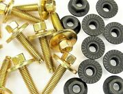 Ford Truck Body Bolts And Flange Nuts- M6-1.0 X 28mm- 8mm Hex- 40 Pcs 20ea 382f