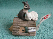 Retired Schleich 13748 Young Rabbits Playing W/tag Attached - Excellent Conditi