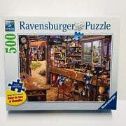 Ravensburger Dads Shed 500 Large Piece Jigsaw Puzzle 27 X 20 New Sealed