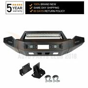 For 2013-2018 Dodge Ram 1500 Solid Front Bumper Guard Protector Standard W Light