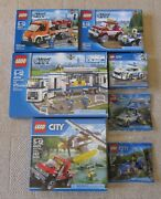 7x Lego City...police Command, Plane Chase, Flatbed Truck, Chase + More