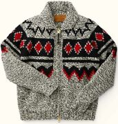 Filson Handmade Klondike Sweater Cream Red And Black Menand039s S Nwt Mrp 595