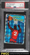1985 Prism Jewel Stickers Moses Malone Psa 6 Exmt