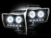 Recon Smoked Projector Headlights Ford F150 And Raptor 09-13 Ccfl Technology