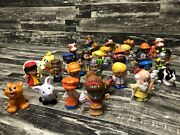 Little People Lot Of 35 Farm Animals And People Knights Fireman Construction
