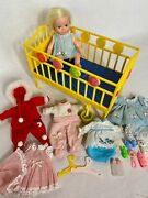 Vintage Suzy Cute Doll By Topper Original Plastic Case, Crib, Lots Of Extras