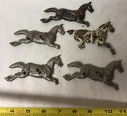 Lot Of 5 Vtg Cast Iron Broken Pieces For Toy Horse Wagon Cart, Parts Or Repair
