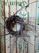 3 - 5 Birch Twig Wreath Candle Rings Small Primitive Farmhouse The Naturals