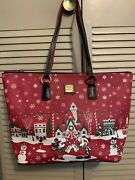 2019 Disney Dooney And Bourke Holiday Tote Mickey And Minnie Christmas Purse Bag
